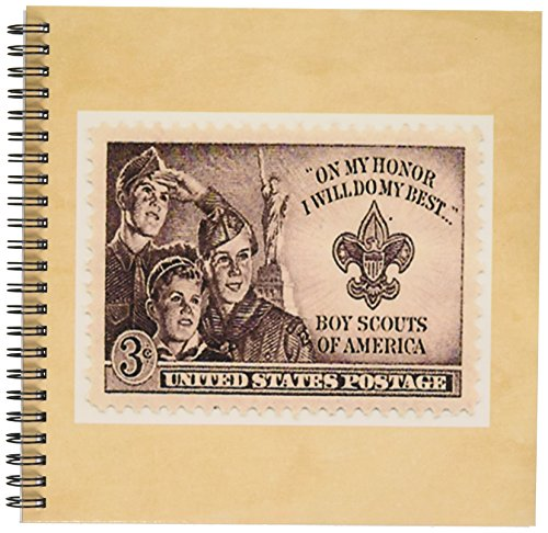 3dRose db_174645_1 Image of Boy Scout Postage Stamp-Drawing Book, 8 by 8-Inch