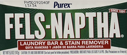 Fels Naptha Laundry Bar and Stain Remover, 5.0 Ounce (4 Bars) by Fels Naptha