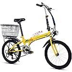 RXRENXIA Bicicletta Pieghevole, 20 Pollici Portatile Pieghevole A Due Ruote Mini Pedale Lega di Alluminio con Foro Luce…