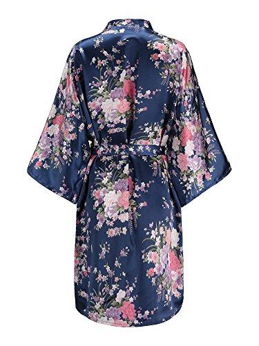 Buy floral silk robes for bride