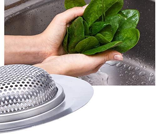 3 tama/ños 3 unidades cocina filtro de desag/üe antiobstrucci/ón de acero inoxidable con agujeros perforados acero inoxidable Filtro de desag/üe para fregadero de cocina filtro de drenaje para ba/ño