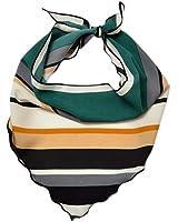 c1c217bba78 iShine Foulard de Femme en Forme Triangle 85 35cm Petite Echarpe à Imprimé  Turban Triangulaire Cache-col…