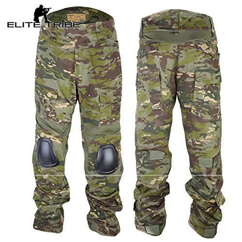 Tactique G3 Tropic Combat De Chasse Airsoft Multicam Tribe Genouillères Elite Avec Pantalon Bdu g07wHq8