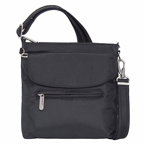 Travelon Anti-Theft Classic Mini Shoulder Bag (One Size, BLACK w/STRIPE Lining) by Travelon (Image #3)