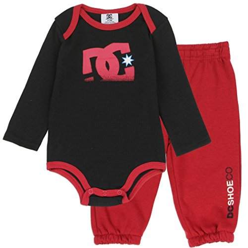 Dc Baby Cribs - DC Shoe Co Baby Long-Sleeve Thermal Bodysuit and Pants Set, Black, 0/3M