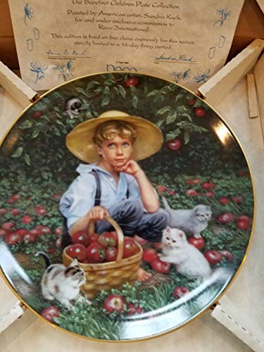 Kingdom Collectibles Sandra Kuck Plate Under The Apple Tree from Reco Barefoot Children Plates