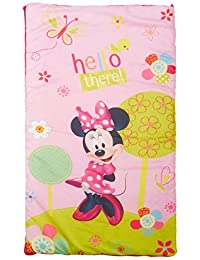 Disney Minnie Mouse Bowtique 2 Piece Slumberbag with Bonus Backpack with Straps, Pink