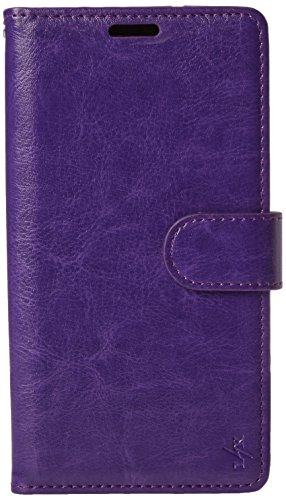 Galaxy S7 Edge Case, LK Galaxy S7 Edge Wallet Case, Luxury PU Leather Case Flip Cover with Card Slots & Stand For Samsung Galaxy S7 Edge, PURPLE For Sale