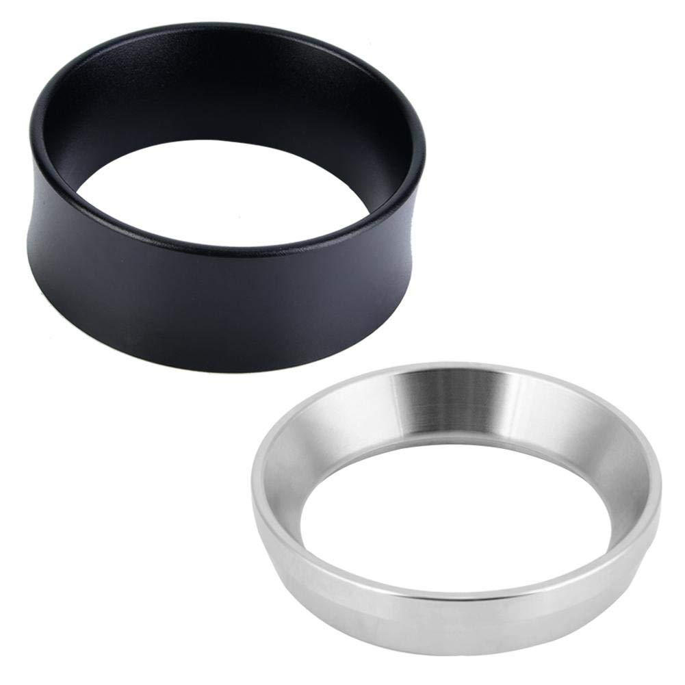 Dosatore per caff/è Espresso Imbuto in Lega di Alluminio Acciaio Inossidabile 2.28in Silver