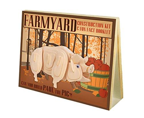 Farmyard Construction Kit and Fun Fact Booklet - Paul The Pig