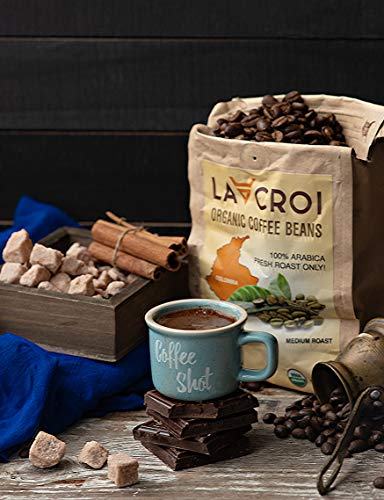 (Lacroi 100% Organic and Natural Colombia Coffee Beans, Fresh Roast, Medium Roast, Exclusive, 100% Arabica Beans 1)