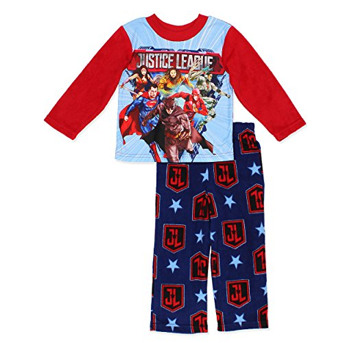 Justice League Boys Fleece Pajamas (8, - Justice Shoes League