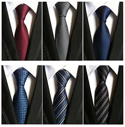 Adulove+Men%27s+Necktie+Classic+Silk+Tie+Woven+Jacquard+Neck+Ties+6+PCS
