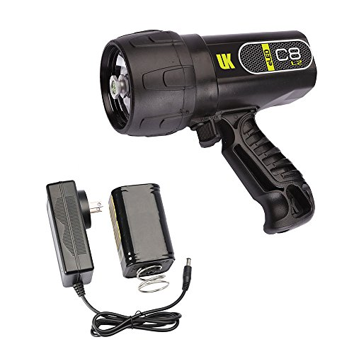 Underwater Kinetics C8 eLED (L2) Dive Light, Rechargeable w/ NiMH Battery/Charger, Black