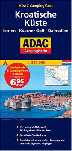 ADAC CampingKarte Kroatien: Istrien - Kvarner Golf - Dalmatien