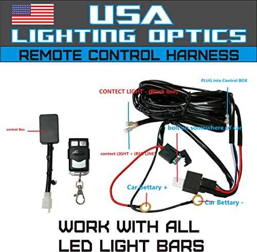 amazon com wireless remote control universal wiring harness off rh amazon com Off-Road Light Wiring Kits Light Bar for Odes Raider 800