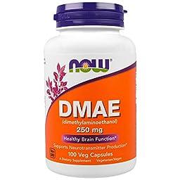 Now Foods, DMAE, 250 mg, 100 Veggie Caps - 2PC