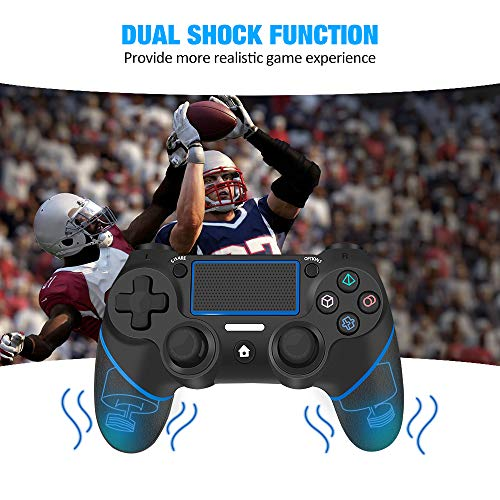 YCCTEAM Wireless Controller for PS4 - Gamepad Joystick for Playstation 4/Pro/Slim/PC and Laptop with Motion Motors and Audio Function