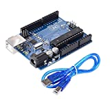 UNO R3 ATmega328P Development Board Compatible Arduino IDE Development Kit Microcontroller With USB Interface Power Supply DC 2.1 Interface 9V Input Voltage With Battery Box (Excluding AA Battery)