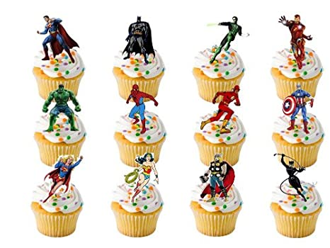30 Jake And The Neverland Pirates Cupcake Toppers Edible Wafer Fairy Cake Topper