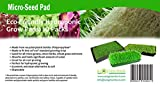 Micro-Seed Pad, Hydroponic Micro Grow Mats, Eco-Friendly Microgreens and Micro Herbs Grow Pads, 10 Pack of 10 x 20