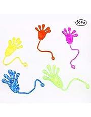 Vinyl Mini Sticky Hands Toys Fun Toys Party Favors (50 Count) Mini Sticky Hands Toys for Children Party Favors
