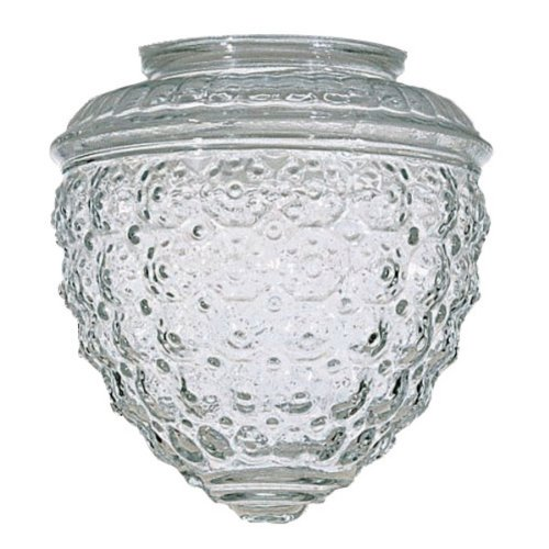 (Clear Pineapple Glass Shade - 3-1/4-Inch Fitter Opening)