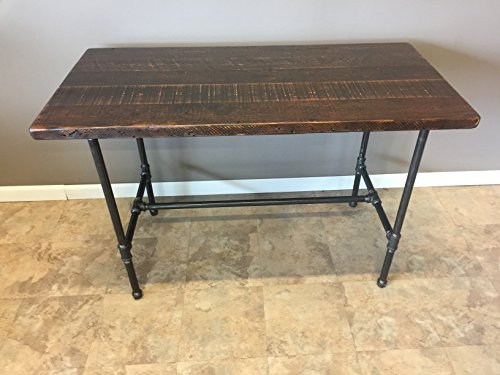 Handmade Reclaimed Wood Dining Table | Salvaged Barn wood | 1.65 Inches Thick | 30 Inches Wide| Black Pipe Leg Base FAST FREE SHIPPING