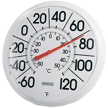 Amazon.com : Springfield Indoor/Outdoor Thermometer (8-inch ...
