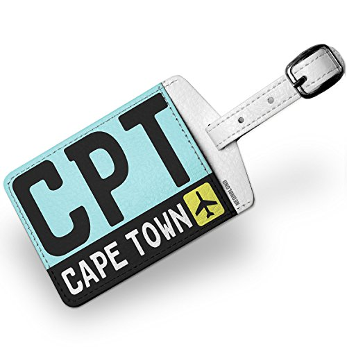 Luggage Tag Airport code CPT / Cape Town country: South Africa - NEONBLOND by NEONBLOND