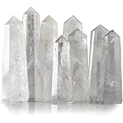Beverly Oaks Crystal Obelisk Bulk Set Featuring Clear Quartz - Powerful Gemstone Healing Wands (1/2 pound)