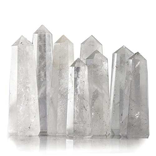 Beverly Oaks Crystal Obelisk Bulk Set Featuring Clear Quartz - Powerful Gemstone Healing Wands (1/2 pound)