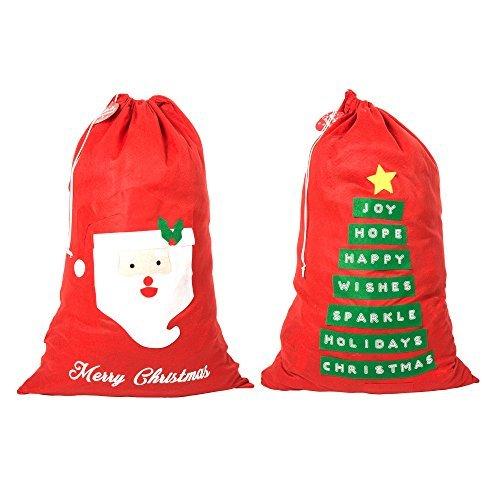 Jumbo in Feltro Rosso Sacco di Natale Coppia Albero di Natale-Babbo Natale/Parole Robelli
