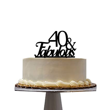 Amazon 40 Fabulous Cake Topper For 40th Birthday Party
