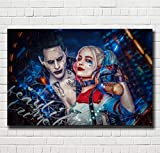 lihuaiart Canvas Wall Art Home Wall Decorations for Bedroom Living Room Oil Paintings Canvas Prints Joker and Harley Quinn 24x36inch