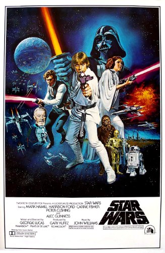 - Star Wars: A New Hope Movie Poster, 24-inch x 36-inch