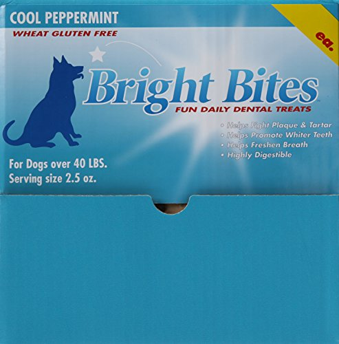 Bright Bites (Bright Bites Daily Dental Dog Treats, Cool Peppermint Large, 5 Pound Box)