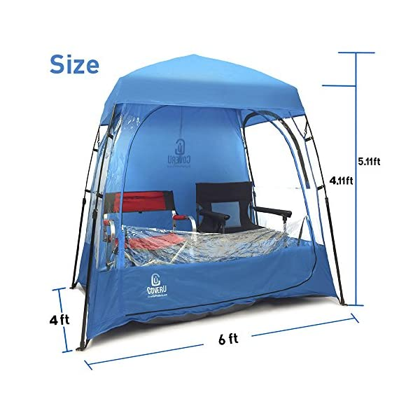 EasyGO CoverU Sports Shelter ...  sc 1 st  Trekohike & EasyGO CoverU Sports Shelter u2013 2 Person Weather Tent and Sports Pod ...