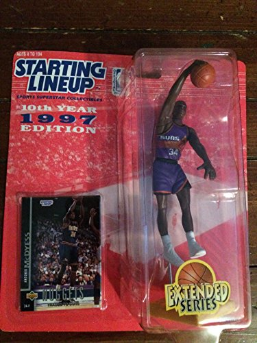 1997 - Kenner / Starting Lineup - NBA - Antonio McDyess #34 - Extended Series - Phoenix Suns Action Figure - OOP - Collectible (Nuggets Condition Mint)
