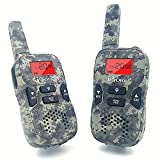 Image of iCore Durable Walkie Talkies, Easy To Use and Kids Friendly, Long Range 3.7 Mile Range, 22 Channel(Green)