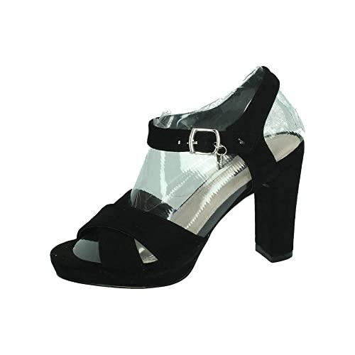 4fd2f5f51 XTI 32035 Tacones XTI Negros Mujer Sandalias TACÓN  Amazon.es  Zapatos y  complementos