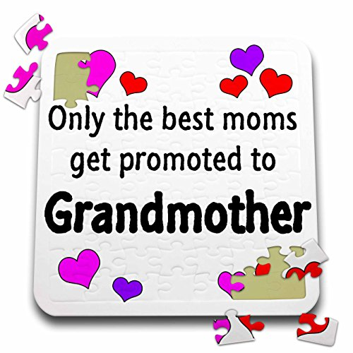 3dRose EvaDane - Quotes - Only The Best Moms get Promoted to Grandmother. - 10x10 Inch Puzzle (pzl_193280_2)