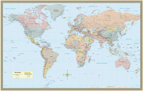 World Map Poster by Quickstudy