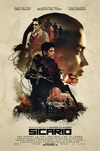 Sicario - Movie Poster Glossy Finish Thick, 8mil: Emily Blunt, Benicio del Toro, Josh Brolin