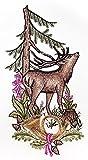 Plauner Spitze 19 x 38 cm Christmas Lace Deer Window Picture/Suncatcher by Plauner Spitze