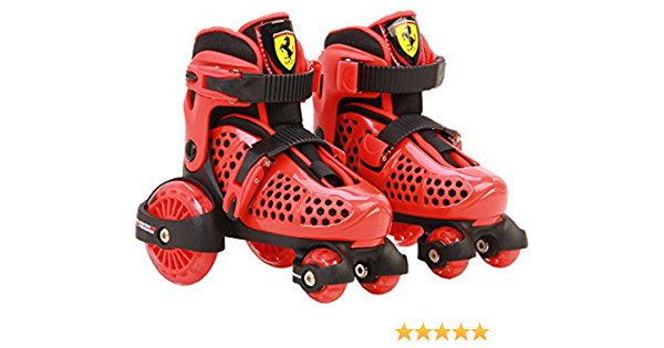 Amazon Com Ferrari Fk10 1red2629 My First Skate Combo Set Red Size 26 29 Sports Outdoors