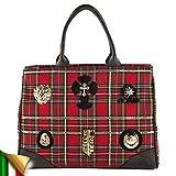 Handbag, Camillared,in fabric, Dimensions in cm: 42 l x 33 h x 15 p