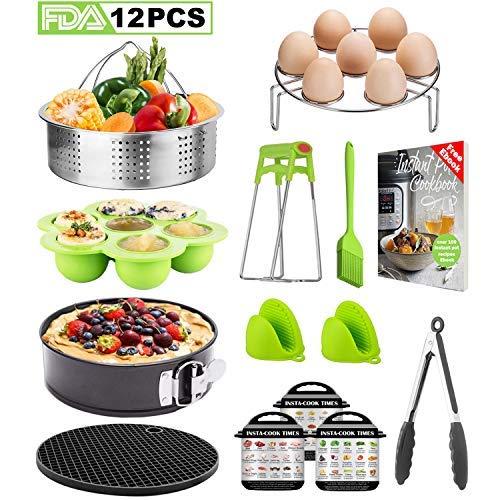 12-Pcs Accessories Set for Instant Pot-Fits 5,6,8Qt, Steamer