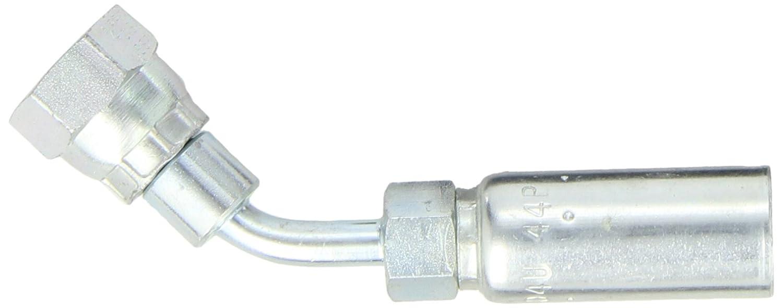 60 Degree Cone Low Carbon Steel EATON Weatherhead Coll-O-Crimp 04U-44P British Standard 45 Degree Female Swivel Elbow Fitting 1//4 Hose ID 1//4 Pipe Size 1//4 Hose ID 1//4 Pipe Size