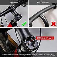LERWAY MTB Vástago Elevador de Manillar para Bicicleta Adaptador de Extensor de Manillar de Aleación de Aluminio Stem Riser para Horquilla 1-1/8